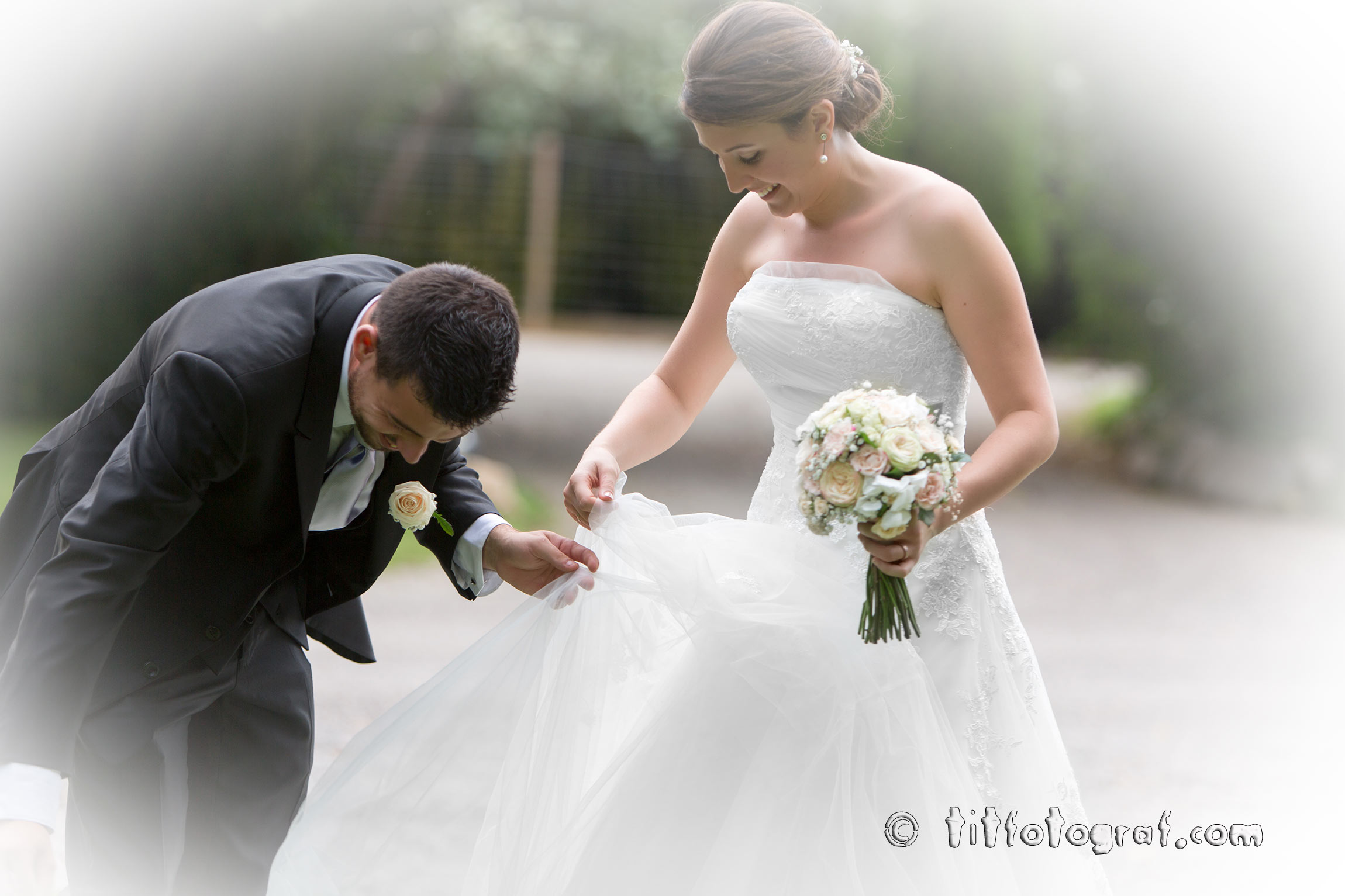 Casament, passeig de nuvis