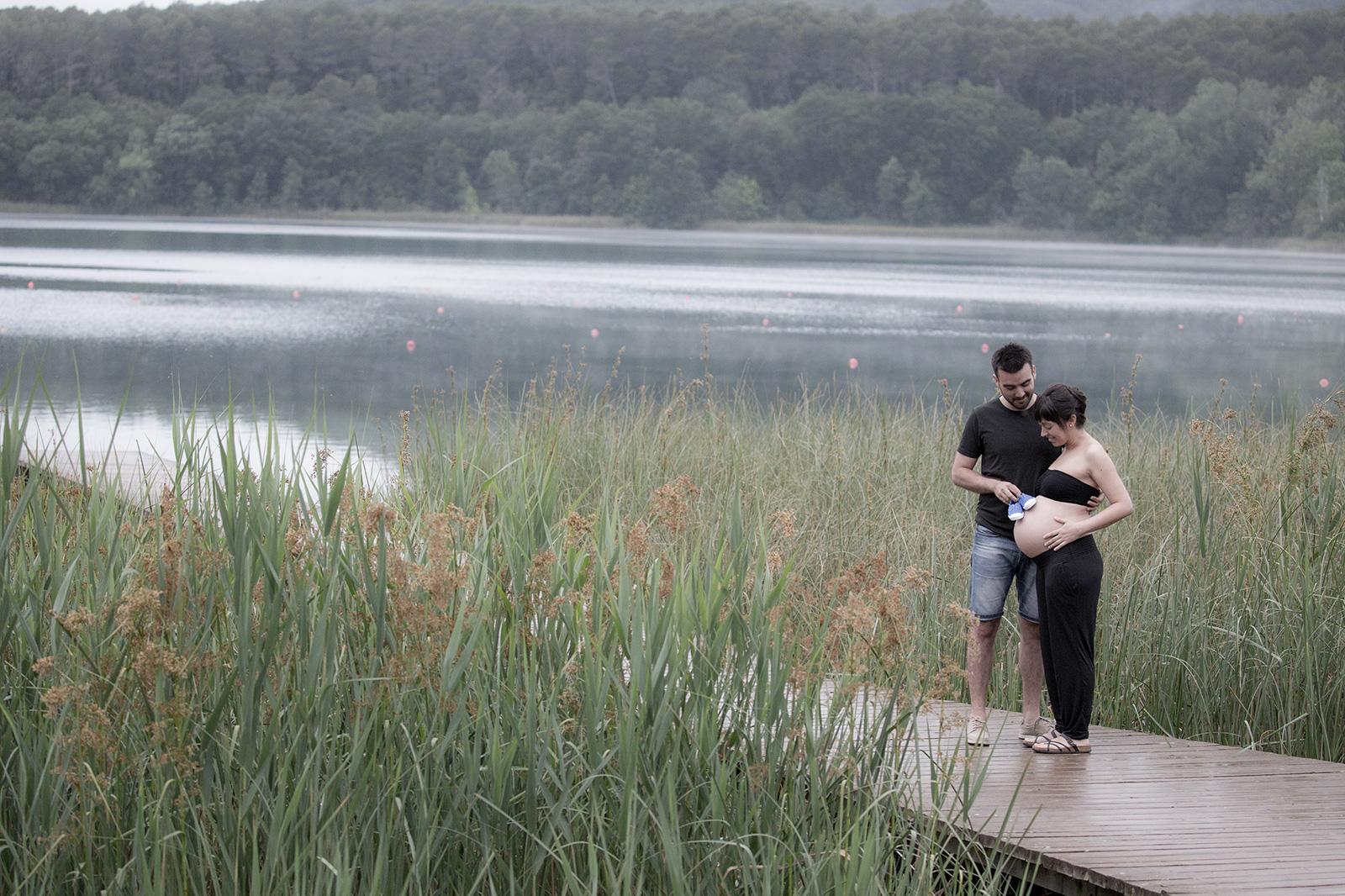 Sessió embaràs a l'estany